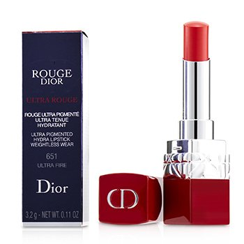 CHRISTIAN DIOR ROUGE DIOR ULTRA ROUGE - # 651 ULTRA FIRE  3.2G/0.11OZ