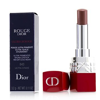CHRISTIAN DIOR ROUGE DIOR ULTRA ROUGE - # 843 ULTRA CRAVE  3.2G/0.11OZ