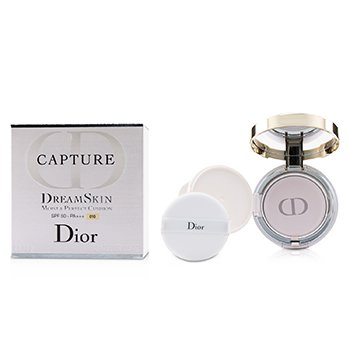 CHRISTIAN DIOR CAPTURE DREAMSKIN MOIST & PERFECT CUSHION SPF 50 WITH EXTRA REFILL - # 010 (IVORY)  2X15G/0.5OZ