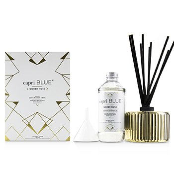 CAPRI BLUE GILDED MUSE REED DIFFUSER - EXOTIC BLOSSOM & BASIL  230ML/7.75OZ
