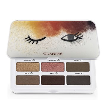 CLARINS READY IN A FLASH EYES & BROWS  PALETTE (4X EYESHADOW, 2X BROW)  7.6G/0.2OZ