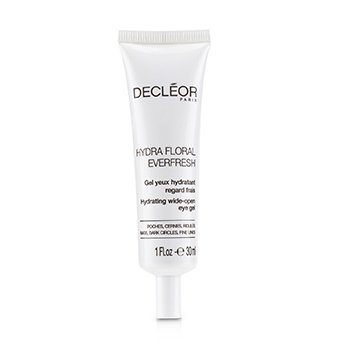 DECLEOR HYDRA FLORAL EVERFRESH HYDRATING WIDE-OPEN EYE GEL - SALON SIZE  30ML/1OZ