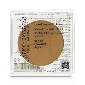 JANE IREDALE PUREPRESSED BASE MINERAL FOUNDATION REFILL SPF 20 - GOLDEN TAN  9.9G/0.35OZ