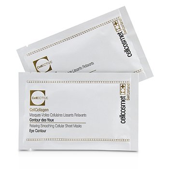 CELLCOSMET & CELLMEN CELLCOSMET CELLECTIVE CELLCOLLAGEN EYE CONTOUR RELAXING SMOOTHING CELLULAR SHEET MASKS  5X2PATCHS