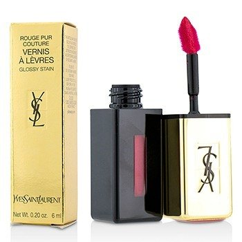 YVES SAINT LAURENT ROUGE PUR COUTURE VERNIS A LEVRES GLOSSY STAIN - # 11 ROUGE GOUACHE  6ML/0.2OZ