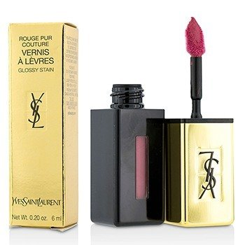 YVES SAINT LAURENT ROUGE PUR COUTURE VERNIS A LEVRES GLOSSY STAIN - # 5 ROUGE VINTAGE  6ML/0.2OZ
