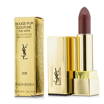 YVES SAINT LAURENT ROUGE PUR COUTURE THE MATS - # 206 GRENAT SATISFACTION  3.8G/0.13OZ