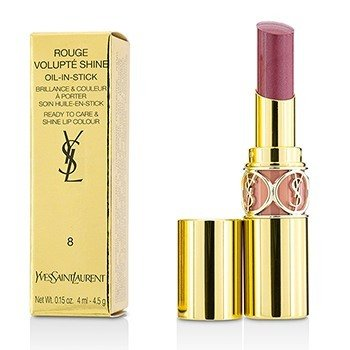 YVES SAINT LAURENT ROUGE VOLUPTE SHINE - # 8 PINK IN CONFIDENCE/ PINK BLOUSON  4.5G/0.15OZ