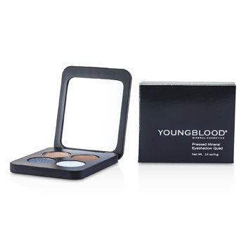 YOUNGBLOOD PRESSED MINERAL EYESHADOW QUAD - GLAMOUR EYES  4G/0.14OZ