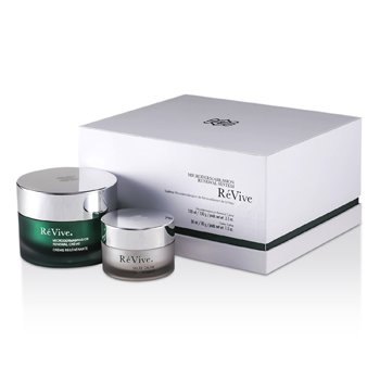 REVIVE MICRODERMABRASION RENEWAL SYSTEM: RENEWAL CREME 100ML/3.3OZ + GELEE CALME 30ML/1OZ (WHITE GIFT BOX)  2PCS