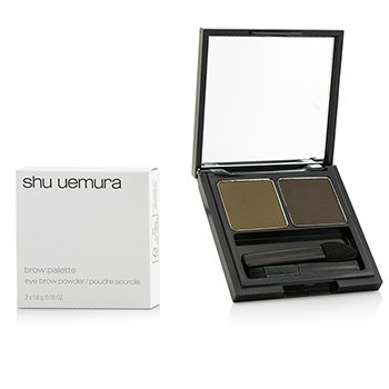 SHU UEMURA BROW:PALETTE EYE BROW POWDER - #WALNUT BROWN/ACORN  2X1.6G/0.05OZ