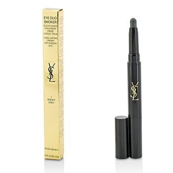 YVES SAINT LAURENT EYE DUO SMOKER LONG LASTING CREAMY EYE SHADOW DUO - # 1 SMOKY GREY  2X0.8G/0.03OZ