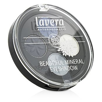 LAVERA BEAUTIFUL MINERAL EYESHADOW QUATTRO - # 07 BLUE PLATINUM  4X0.8G/0.026OZ