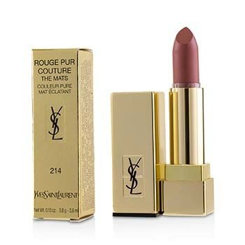 YVES SAINT LAURENT ROUGE PUR COUTURE THE MATS - # 214 WOOD ON FIRE  3.8G/0.13OZ