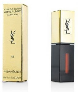 YVES SAINT LAURENT ROUGE PUR COUTURE VERNIS A LEVRES GLOSSY STAIN - # 48 ORANGE GRAFFITI  6ML/0.2OZ