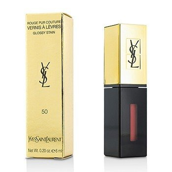 YVES SAINT LAURENT ROUGE PUR COUTURE VERNIS A LEVRES GLOSSY STAIN - # 50 ENCRE NUDE  6ML/0.2OZ