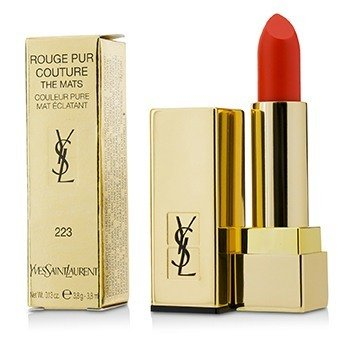 YVES SAINT LAURENT ROUGE PUR COUTURE THE MATS - # 223 CORAL ANTI MAINSTREAM  3.8G/0.13OZ
