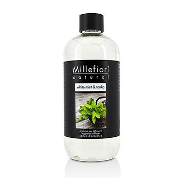 MILLEFIORI NATURAL FRAGRANCE DIFFUSER REFILL - WHITE MINT & TONKA  500ML/16.9OZ