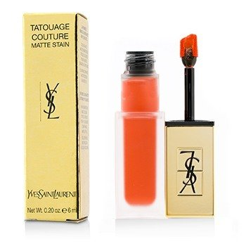 YVES SAINT LAURENT TATOUAGE COUTURE MATTE STAIN - # 2 CRAZY TANGERINE  6ML/0.2OZ