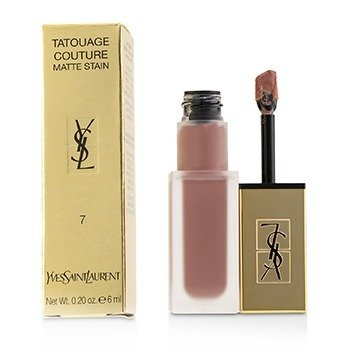 YVES SAINT LAURENT TATOUAGE COUTURE MATTE STAIN - # 7 NU INTERDIT  6ML/0.2OZ