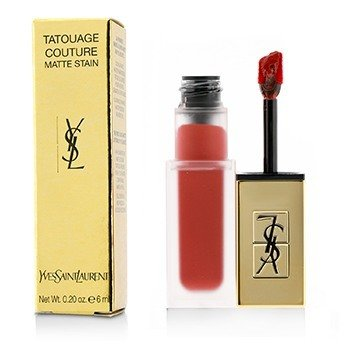 YVES SAINT LAURENT TATOUAGE COUTURE MATTE STAIN - # 12 RED TRIBE  6ML/0.2OZ
