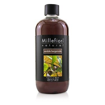 MILLEFIORI NATURAL FRAGRANCE DIFFUSER REFILL - SANDALO BERGAMOTTO  500ML/16.7OZ