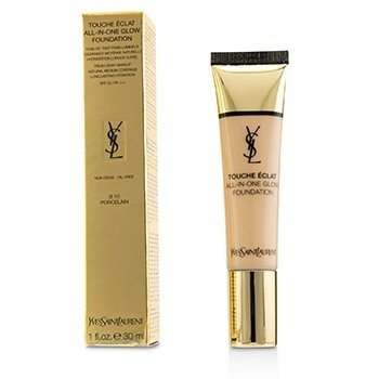 YVES SAINT LAURENT TOUCHE ECLAT ALL IN ONE GLOW FOUNDATION SPF 23 - # B10 PORCELAIN  30ML/1OZ