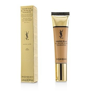YVES SAINT LAURENT TOUCHE ECLAT ALL IN ONE GLOW FOUNDATION SPF 23 - # B60 AMBER  30ML/1OZ