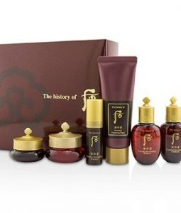 WHOO (THE HISTORY OF WHOO) JINYULHYANG TRIAL SET: 1X CLEANSING FOAM, 1X BALANCER, 1X EMULSION, 1X ESSENCE, 1X FACE CREAM, 1X EYE CREAM  6PCS