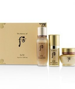 WHOO (THE HISTORY OF WHOO) BICHUP ROYAL ANTI-AGING TRIAL SET: 1X FIRST CARE MOISTURE ANTI-AGING ESSENCE, 1X SELF-GENERATING ANTI-AGING ESSENCE, 1X CREAM  3PCS
