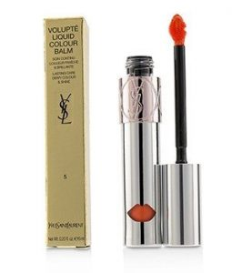 YVES SAINT LAURENT VOLUPTE LIQUID COLOUR BALM - # 5 WATCH ME ORANGE  6ML/0.2OZ