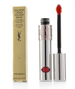YVES SAINT LAURENT VOLUPTE LIQUID COLOUR BALM - # 7 GRAB ME RED  6ML/0.2OZ