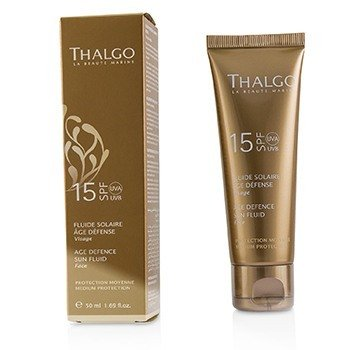 THALGO AGE DEFENCE SUN FLUID FOR FACE SPF15  50ML/1.69OZ