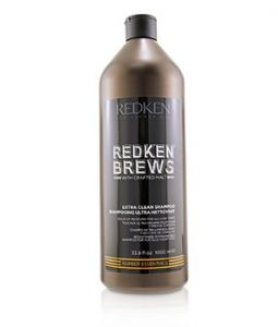 REDKEN BREWS EXTRA CLEAN SHAMPOO (BUILD-UP REMOVER FOR ALL HAIR TYPES)  1000ML/33.8OZ
