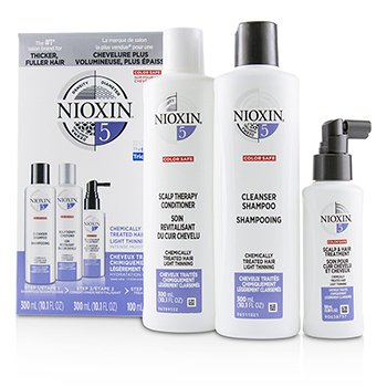 NIOXIN 3D CARE SYSTEM KIT 5 - FOR CHEMICALLY TREATED HAIR, LIGHT THINNING  3PCS