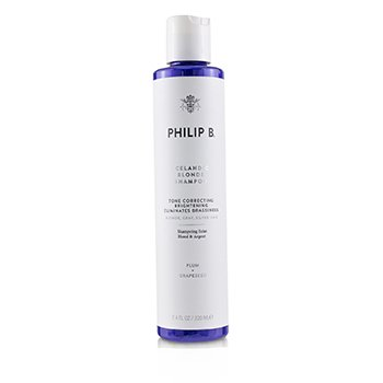 PHILIP B ICELANDIC BLONDE SHAMPOO (TONE CORRECTING BRIGHTENING ELIMINATES BRASSINESS - BLONDE, GRAY, SILVER HAIR)  220ML/7.4OZ