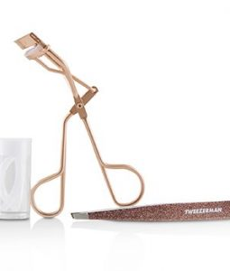 TWEEZERMAN ROSE GOLD GLAM UP GIFT SET  2PCS