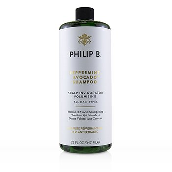 PHILIP B PEPPERMINT AVOCADO SHAMPOO (SCALP INVIGORATOR VOLUMIZING - ALL HAIR TYPES)  947ML/32OZ