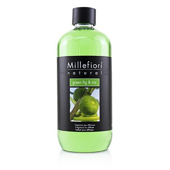 MILLEFIORI NATURAL FRAGRANCE DIFFUSER REFILL - GREEN FIG & IRIS  500ML/16.9OZ