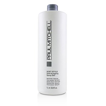 PAUL MITCHELL SOFT STYLE SOFT SCULPTING SPRAY GEL (NATURAL HOLD - STYLING GEL)  1000ML/33.8OZ