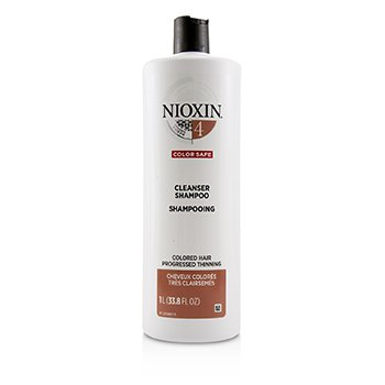NIOXIN DERMA PURIFYING SYSTEM 4 CLEANSER SHAMPOO (COLORED HAIR, PROGRESSED THINNING, COLOR SAFE)  1000ML/33.8OZ