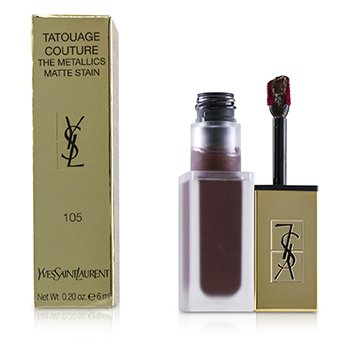 YVES SAINT LAURENT TATOUAGE COUTURE THE METALLICS - # 105 MAGNETIC PRUNE TEMPER  6ML/0.2OZ