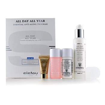 SISLEY ALL DAY ALL YEAR ESSENTIAL ANTI-AGING PROGRAM: ALL DAY ALL YEAR 50ML + CLEANSING MILK 30ML + FLORAL TONING LOTION 30ML + SUPREMYA AT NIGHT 5ML  4PCS