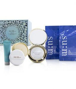 SU:M37 WATER FULL CC CUSHION PERFECT FINISH SPF50 HOLIDAY EDITION - # 01 : (1X CUSHION, 2X REFILL, 1X PRIMER)  3PCS