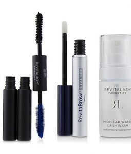 REVITALASH EYE PERFECTING GIFT COLLECTION : (1X EYEBROW CONDITIONER, 1X CONDITIONING EYE MAKEUP REMOVER, 1X VOLUMIZING MASCARA BLACK)  3PCS