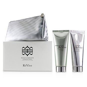 REVIVE PERFECT COMPANIONS PURIFYING TRAVEL COLLECTION: PURIFYING CLAY MASK 75G + MICRO-RESURFACING TREATMENT 75G  2PCS+1BAG