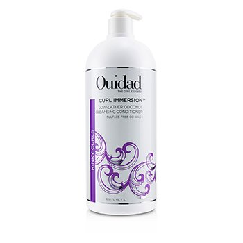 OUIDAD CURL IMMERSION LOW-LATHER COCONUT CLEANSING CONDITIONER (KINKY CURLS)  1000ML/33.8OZ