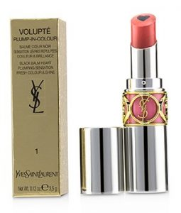 YVES SAINT LAURENT VOLUPT PLUMP IN COLOUR LIP BALM - # 01 MAD NUDE (UNIVERSAL WARM NUDE)  3.5G/0.12OZ