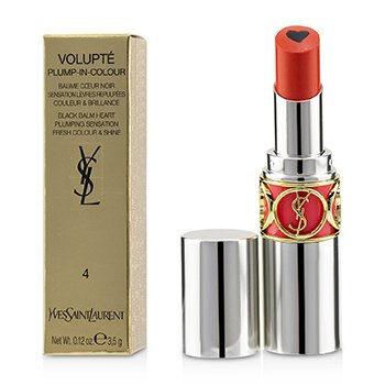 YVES SAINT LAURENT VOLUPT PLUMP IN COLOUR LIP BALM - # 04 EXPOSING CORAL (TRUE CORAL)  3.5G/0.12OZ