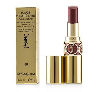 YVES SAINT LAURENT ROUGE VOLUPTE SHINE - # 86 MAUVE CUIR  4.5G/0.15OZ